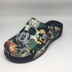 Mickey Mouse Siyah Desenli Sabo Terlik